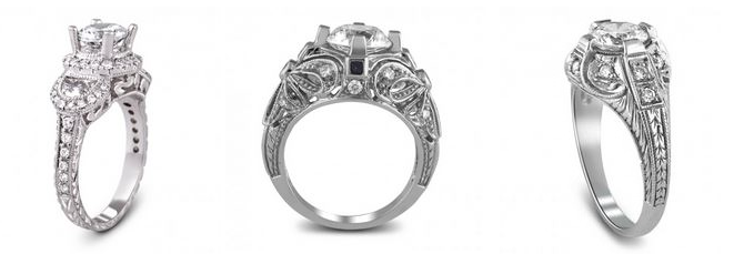 antique vintage inspired engagement rings jewelry - Vintage Inspired Wedding Rings